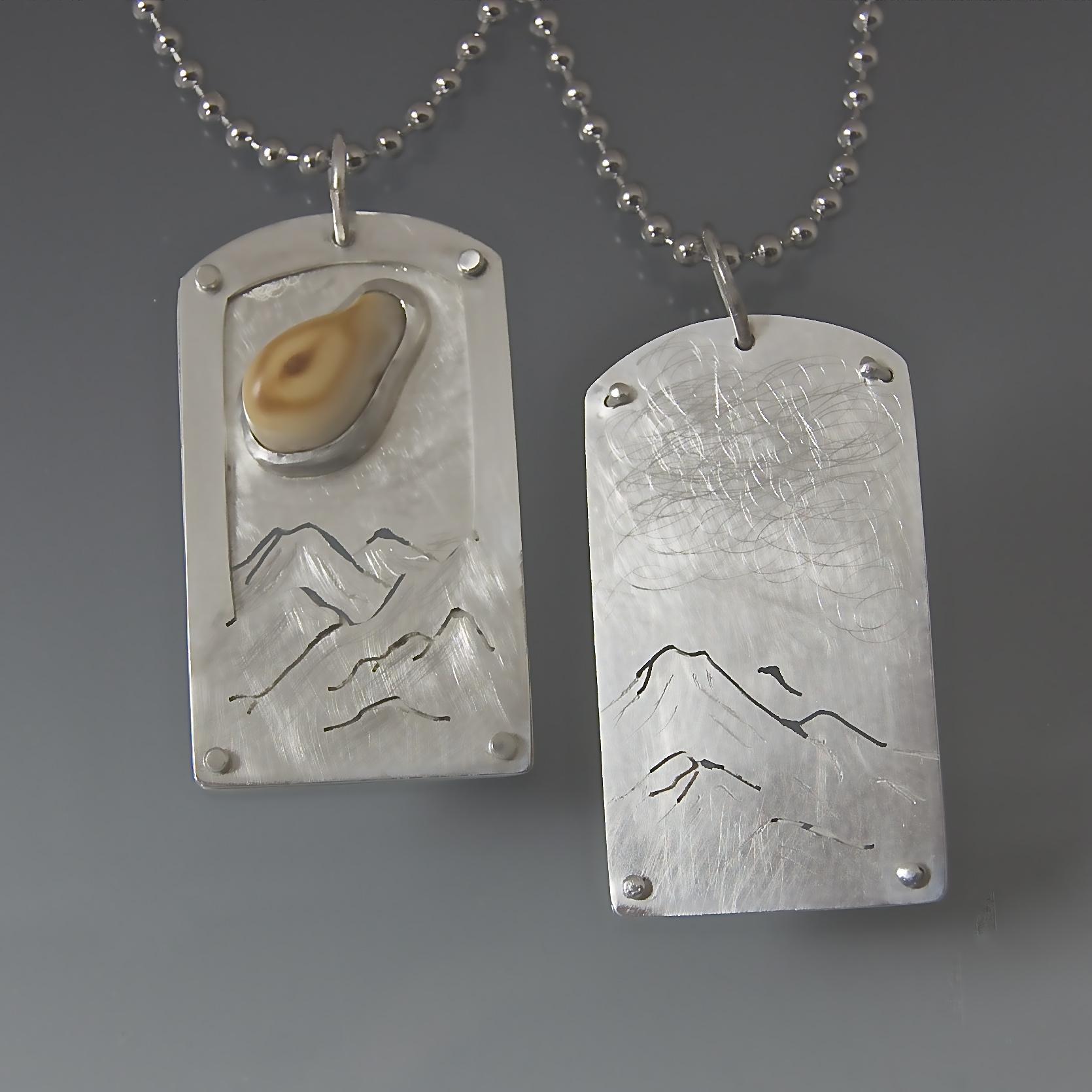 Elk ivory pendants